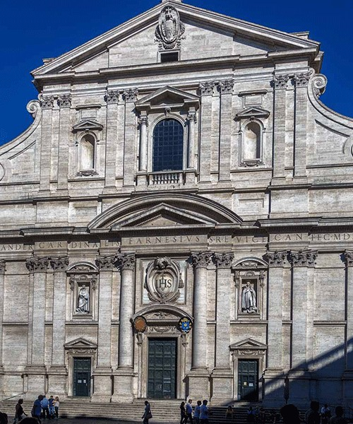 Fasada kościoła Il Gesù wg projektu Giacomo della Porty