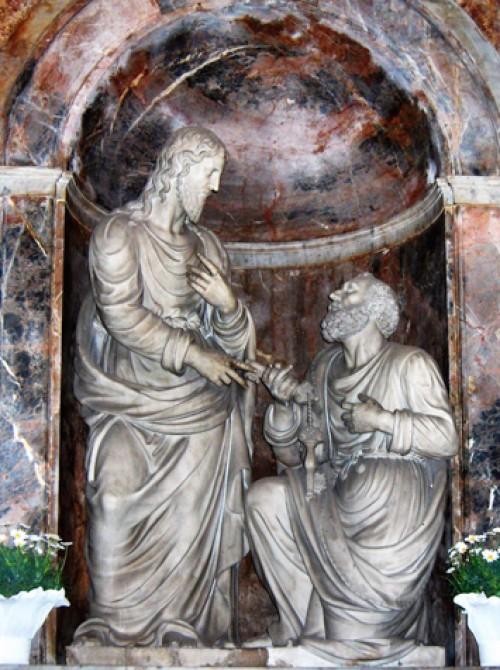 Giacomo della Porta, Chrystus przekazujący Piotrowi klucze, kościół Santa Pudenziana, zdj. Wikipedia, autor Georges Jansoone (JoJan)