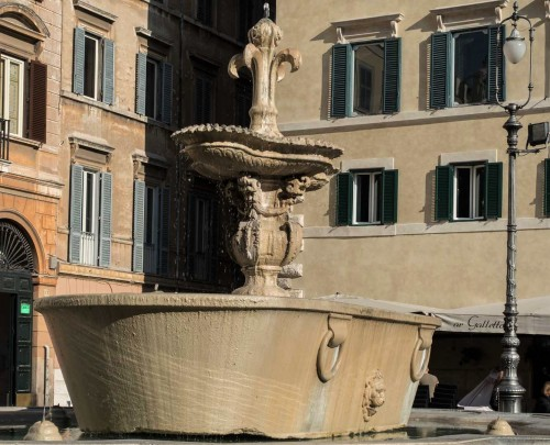 Giacomo della Porta, one of the fountains in Piazza Farnese