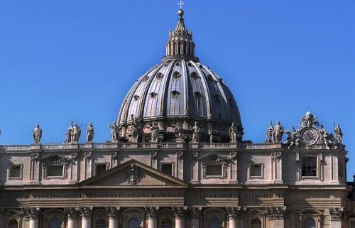 Giacomo della  Porta, realizacja kopuły bazyliki San Pietro in Vaticano według projektu Michała Anioła