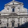 Façade of the Church of Il Gesù according to the design of Giacomo della Porta