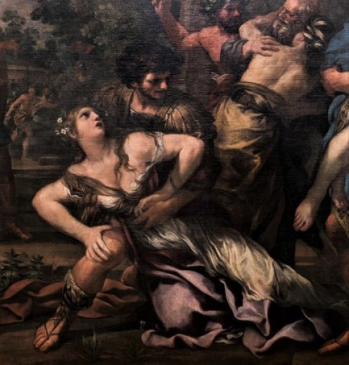 Porwanie Sabinek, Pietro da Cortona, fragment, Musei Capitolini - Pinacoteca Capitolina