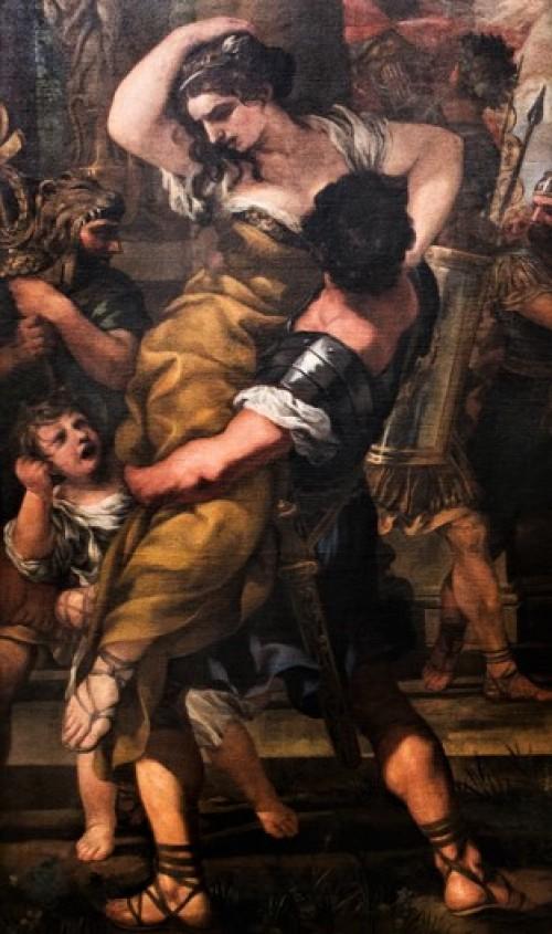 Rape of the Sabine Women, Pietro da Cortona, fragment, Musei Capitolini – Pinacoteca Capitolina