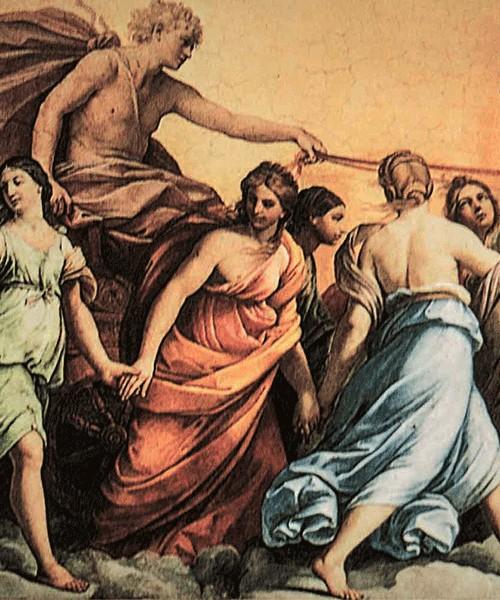 Fresk Aurora, Guido Reni, Casino dell'Aurora (Palazzo Pallavicini-Rospigliosi)