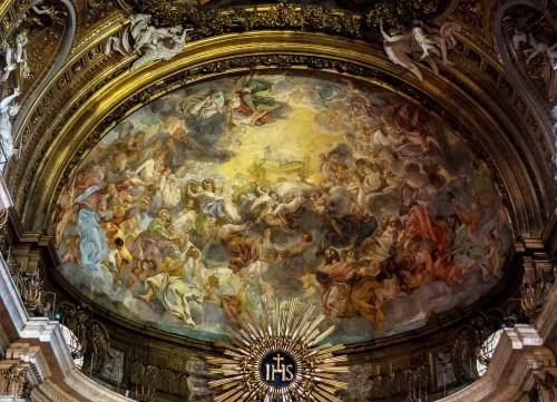 Il Gesù, Adoracja Baranka Bożego, zwieńczenie absydy, Baciccio