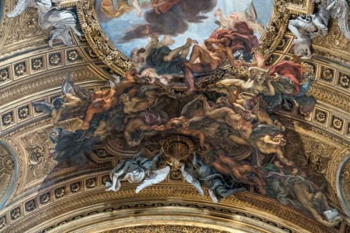 Il Gesù, fresk sklepienia autorstwa Baciccia, fragment