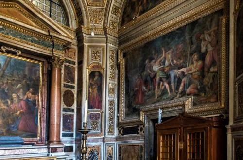Il Gesù, kaplica św. Andrzeja, fresk z przedstawieniem męczeństwa św. Szczepana, Agostino Ciampelli