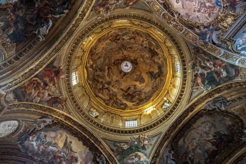 Il Gesù, malowidła kopuły kościoła, Chwała niebiańska Chrystusa, Baciccio