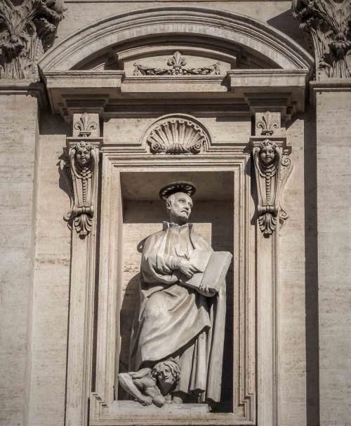 Il Gesù, nisza z wizerunkiem św. Ignacego Loyoli depczącego alegorię Herezji