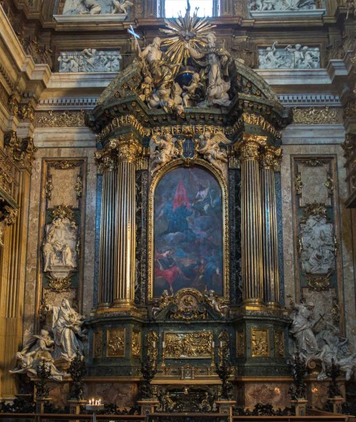 Church of Il Gesù, Altar of Ignatius of Loyola (Capella Sant'Ignazio), church transept