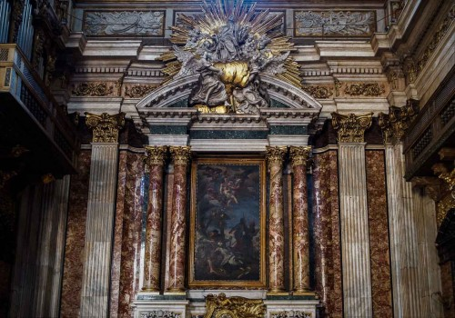 Church of Il Gesù, Altar of St. Francis Xavier in the transept of the church, Giacomo della Porta, Pietro da Cortona