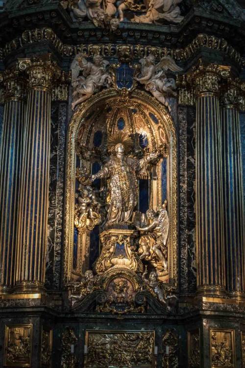 Il Gesù, posąg św. Ignacego po odsłonięciu malowidła(Cappella Sant'Ignazio)