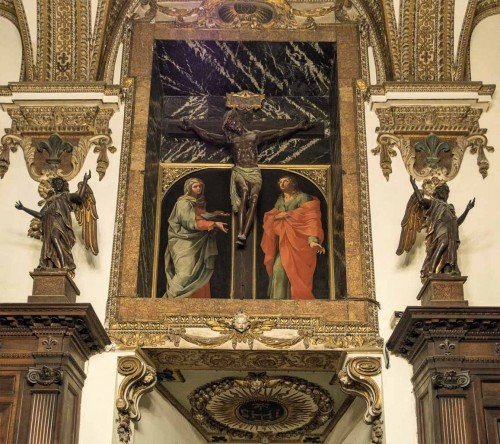 Church of Il Gesù, the Old Sacristy, decoration of one of the walls