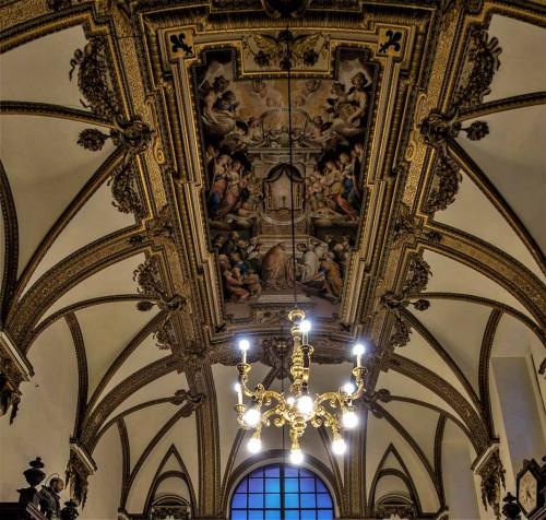Il Gesù, Stara Zakrystia, projekt Girolamo Rainaldi, freski sklepienia