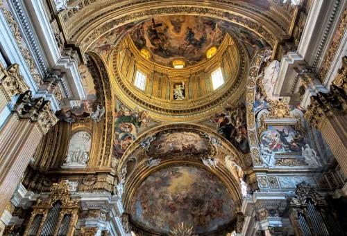 Il Gesù, zwieńczenie absydy i kopuła, malowidła - Baciccio