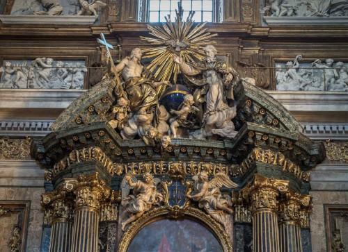 Il Gesù, zwieńczenie ołtarza Ignacego Loyoli (Cappella Sant'Ignazio)
