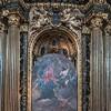 Il Gesù, ołtarz Ignacego Loyoli (Cappella Sant'Ignazio) - odsłonięcie posągu św. Ignacego