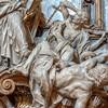 Il Gesù, Religia triumfująca nad Herezją (fragment), Pierre Le Gros, kaplica Sant'Ignazio