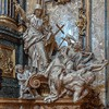 Church of Il Gesù, The Triumph of Religion over Heresy, Pierre Le Gros, Sant'Ignazio Chapel