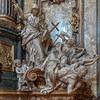 Il Gesù, Religia triumfująca nad Herezją, Pierre Le Gros, kaplica Sant'Ignazio