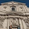 Il Gesù, w niszach postacie świętych - Ignacego Loyoli i Franciszka Ksawerego