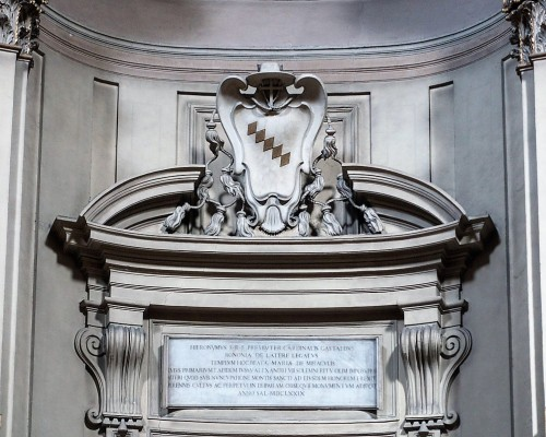 Church of Santa Maria dei Miracoli, inscription commemorating Cardinal Girolamo Gastaldi