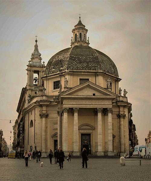 Santa Maria dei Miracoli, Piazza del Popolo
