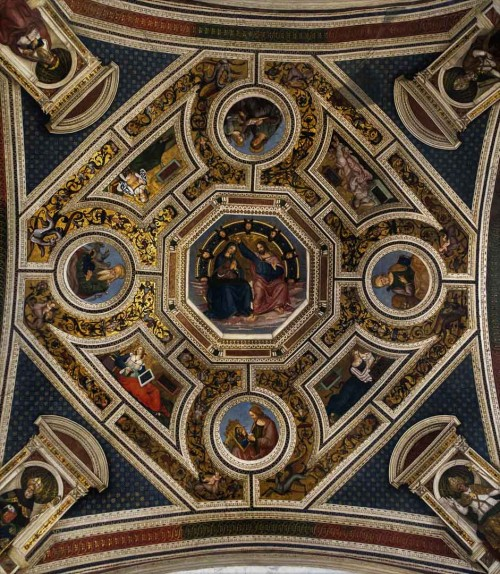 Basilica of Santa Maria del Popolo, vault decorations in the apse, Coronation of the Virgin, Pinturicchio