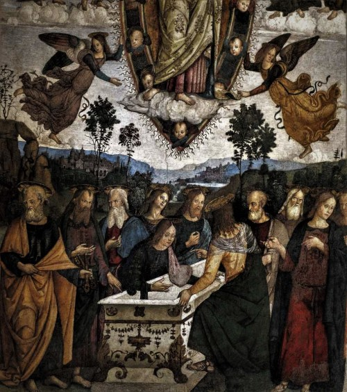 Basilica of Santa Maria del Popolo, the Basso della Rovere Chapel, Assumption of Our Lady, Pinturicchio, fragment