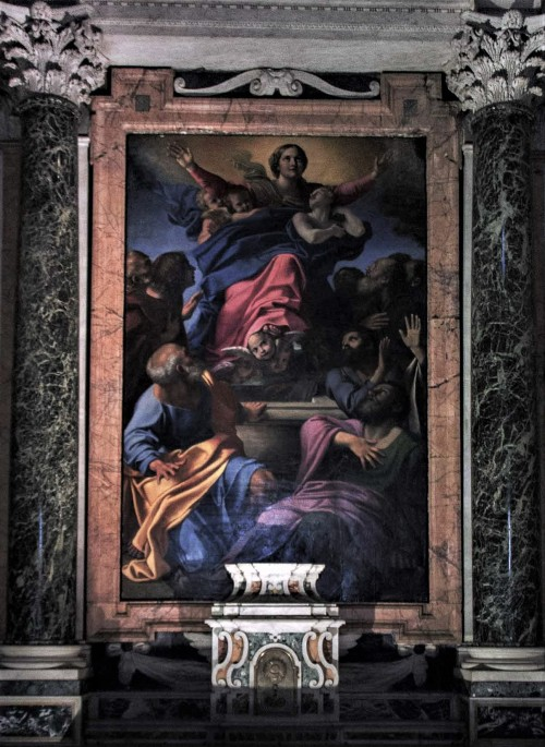 Basilica of Santa Maria del Popolo, Cerasi Chapel, middle painting – The Assumption of Our Lady, Annibale Carracci