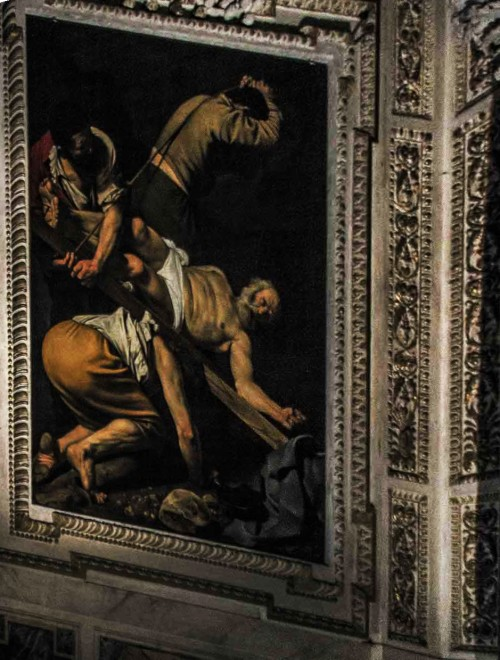 Basilica of Santa Maria del Popolo, Cerasi Chapel, The Crucifixion of St. Peter, Caravaggio