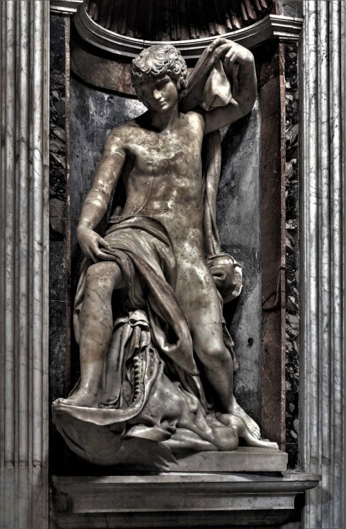 Church of Santa Maria del Popolo, Chigi Chapel, statue of Jonas, Lorenzetto