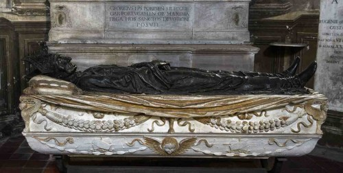 Church of Santa Maria del Popolo, Costa Chapel, sarcophagus of Cardinal Pietro Foscari, Lorenzo di Pietro