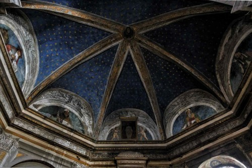 Basilica of Santa Maria del Popolo, Costa Chapel, four Doctors of the Church in the lunettes
