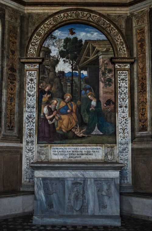 Santa Maria del Popolo, Della Rovere Chapel, Adoration of the Child, Pinturicchio