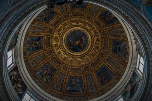 Basilica of Santa Maria del Popolo, dome of the Chigi Chapel, design by Raphael