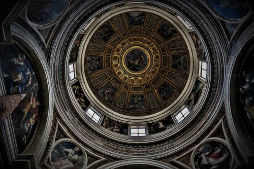Church of Santa Maria del Popolo, dome in the Chigi Chapel, mosaic design - Raphael