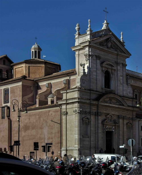 Façade of the Church of Santa Maria della Vittoria, foundation of Cardinal Scipione Borghese