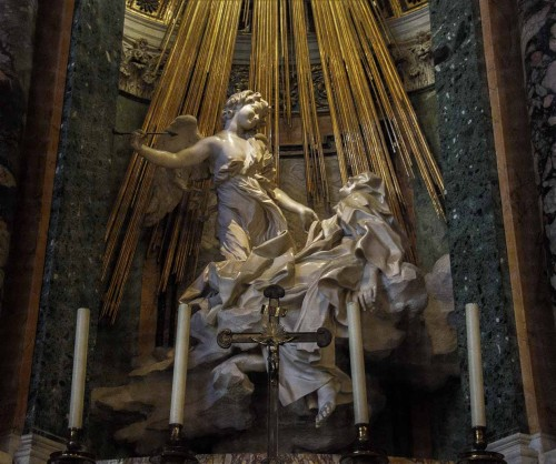 Church of Santa Maria della Vittoria, The Ecstasy of St. Theresa, Gian Lorenzo Bernini