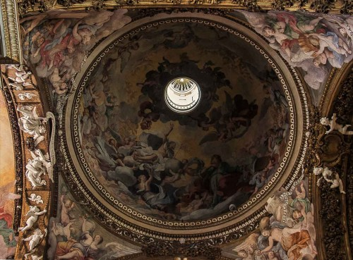 Church of Santa Maria della Vittoria, dome with paintings by Guercino – The Apotheosis of St. Paul