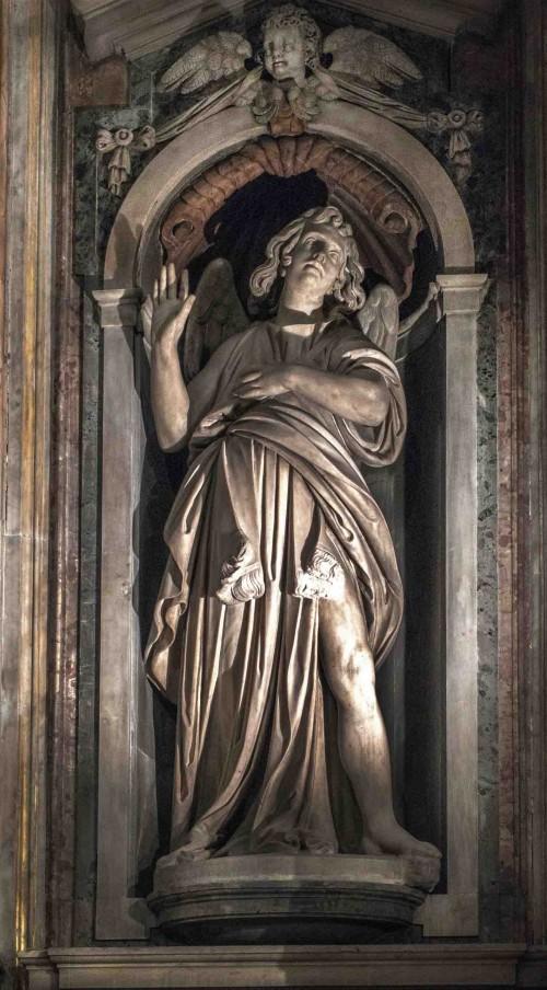 Santa Maria di Loreto, angel in the church apse, Stefano Maderno