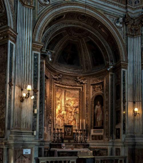 Santa Maria di Loreto, kaplica Trzech Króli, Adoracja Dzieciątka przez Trzech Króli - Pomarancio