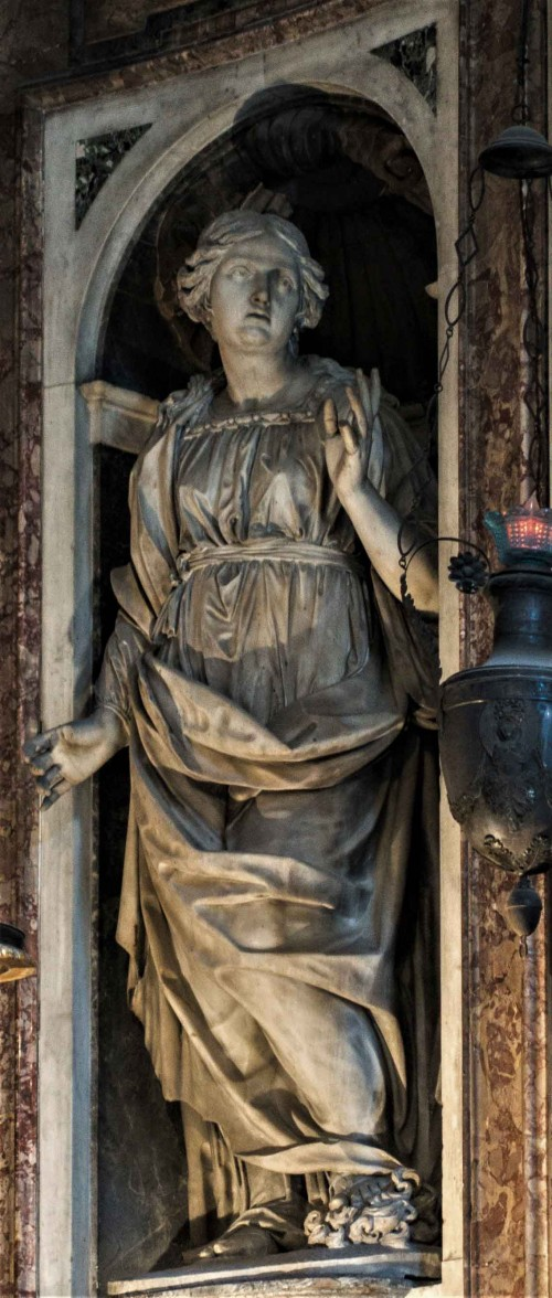 Santa Maria di Loreto, presbytery – St. Domitilla, Domenico de Rossi