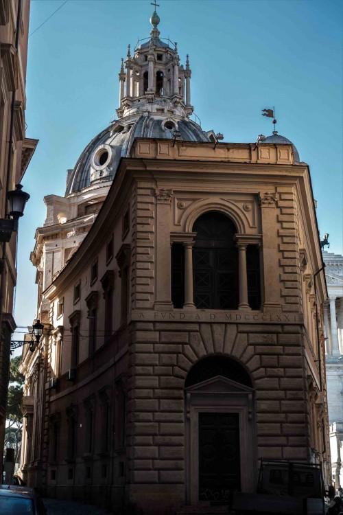 Santa Maria di Loreto widziany od tyłu