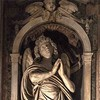 Santa Maria di Loreto, figura anioła w prezbiterium, Stefano Maderno