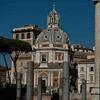 Church of Santa Maria di Loreto seen from the Forum of Trajan