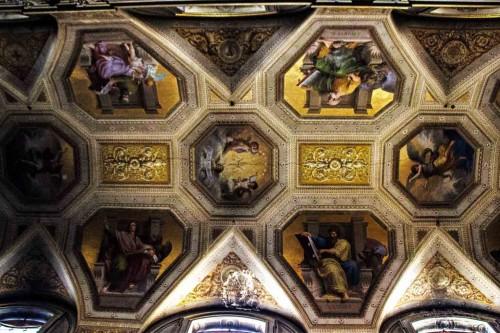 Santa Maria in Aquiro, sklepienie, malowidła z XIX w.