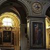 Santa Maria in Aquiro, filary nawy głównej z wizerunkami ojców Kościoła (św. Grzegorz)