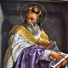 Santa Maria in Aquiro, jedno z malowideł na filarach nawy głównej, św. Chryzostom