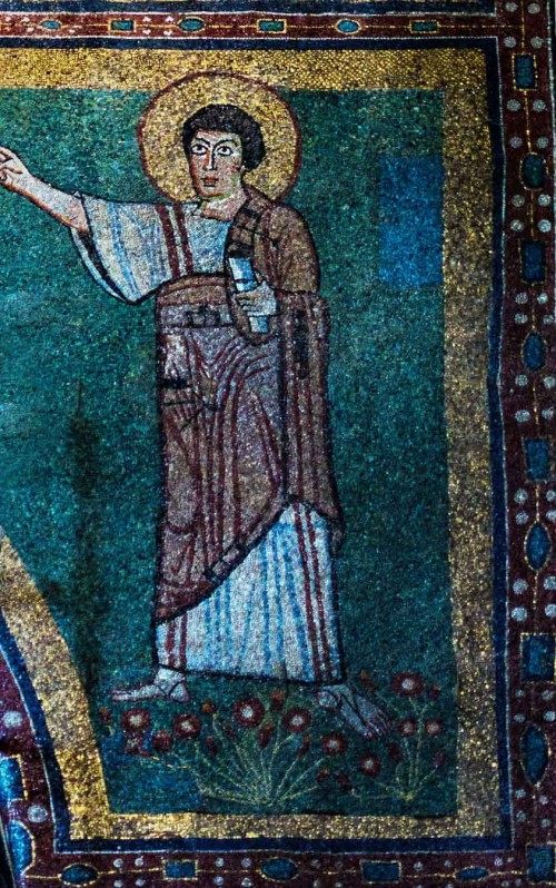 Basilica of Santa Maria in Domnica, the prophet Elijah in the church apse